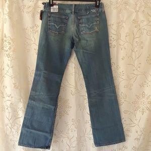 Diesel cherone women blue jeans 30x32